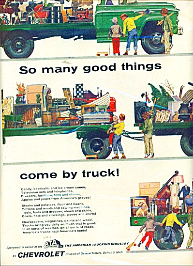 1957 Chevrolet truck ad TRUCKING INDUSTRY ART (Image1)