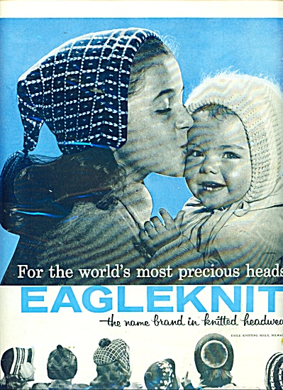 1957 Eagleknit HATS headwear AD Cutest Baby (Image1)