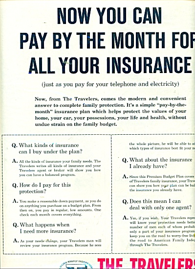 The Travelers Insurance companies ad 1957 (Image1)