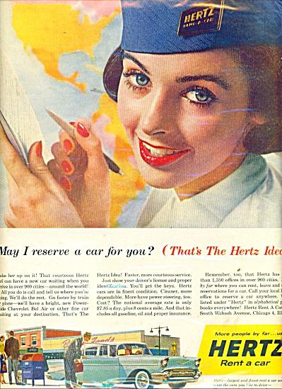 Hertz rent a car ad 1957 (Image1)