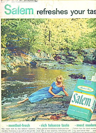Salem Cigarettes Ad 1957