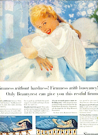 1957 Simmons Beautyrest Mattress AD Beautiful (Image1)