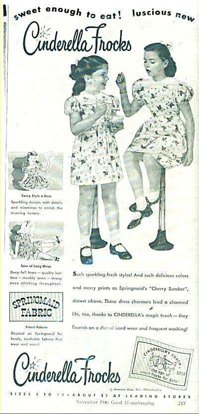 Cinderella Frocks ad 1946 (Image1)