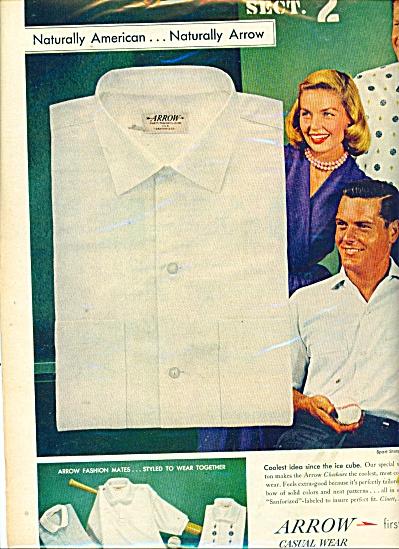 Arrow shirts ad  1957 (Image1)