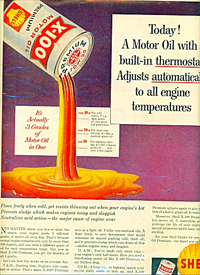 Shell Motor Oil ad  1946 (Image1)