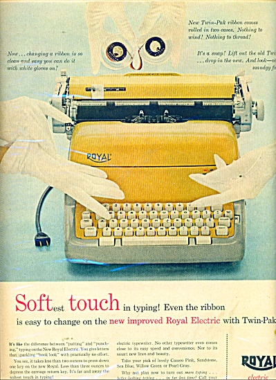 Royal electric typewriter ad 1957 (Image1)