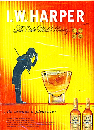 I.w. Harper Kentucky Bourbon Whiskey Ad 1957