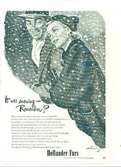 Hollander Furs ad 1946 (Image1)