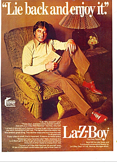 La-Z-Boy  - JOE NAMATH  CHAIR ad (Image1)
