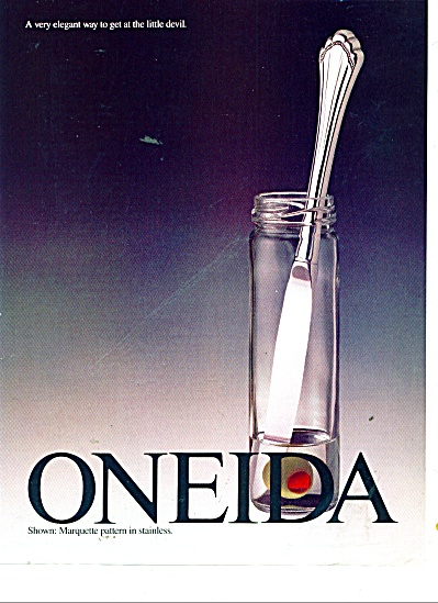 Oneida stainless ad 1991 (Image1)