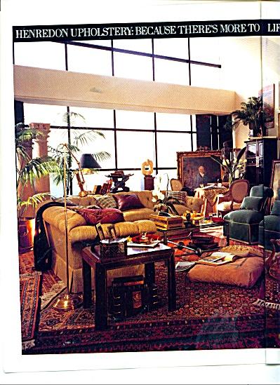 Henredon upholstery ad 1991 (Image1)