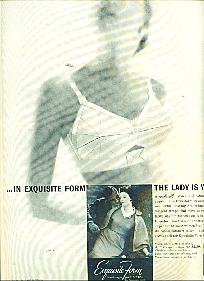 Exquisite Form Bras Ad 1957