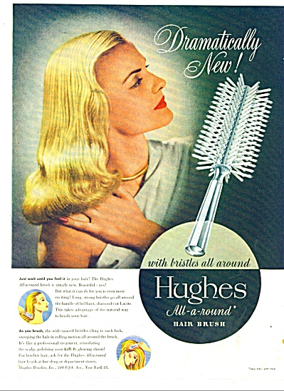 Hughes all around hair brush ad 1946 (Image1)