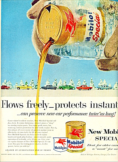 New Mobiloil special - mobilgas ad 1957 (Image1)