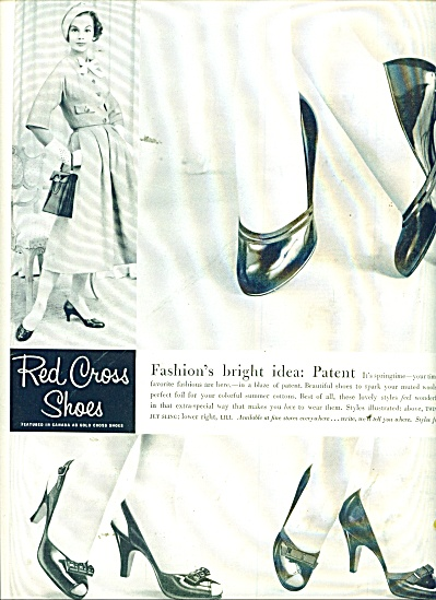 Red Cross shoes ad 1957 (Image1)