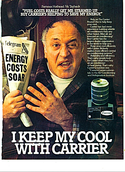 Carrier heating - VIC TAYBACK  ad 1981 (Image1)