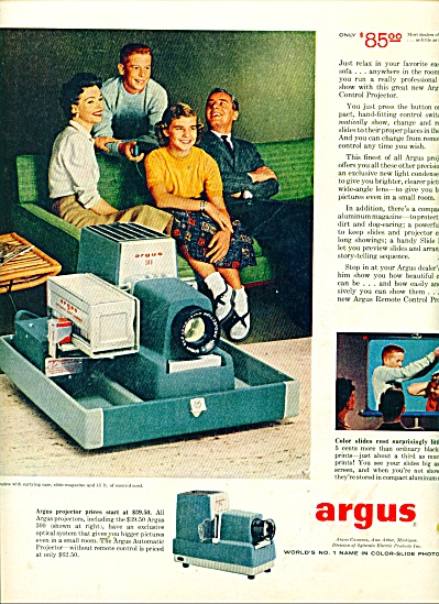 Argus color slide photography ad 1957 (Image1)