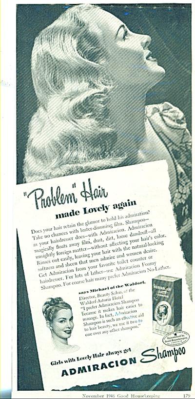1946 Admiracion shampoo AD Girl w/ Hair (Image1)