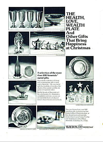 Wilton Armetale metal gifts ad 1977 (Image1)