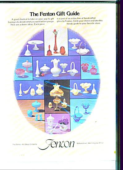 Fenton Art Glass Company Ad 1977