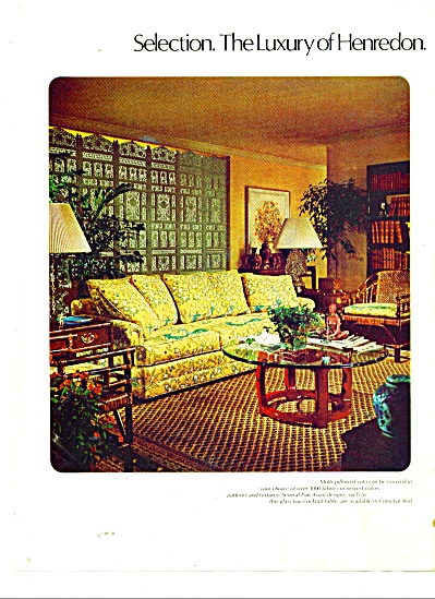 Henredon furniture ad 1977 (Image1)