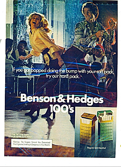 1977 Benson & Hedges Cigarette Ad Disco Dance