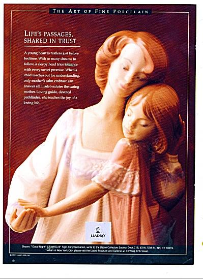 Lladro porcelain art ad 1993 (Image1)
