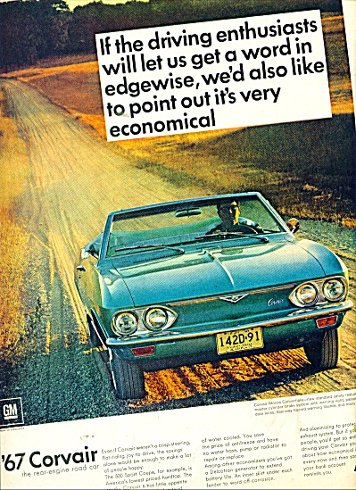 Chevrolet Corvair  1967 ad (Image1)