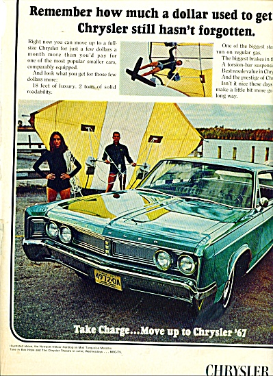 Chrysler Corporation - Chrysler for 1967 ad (Image1)