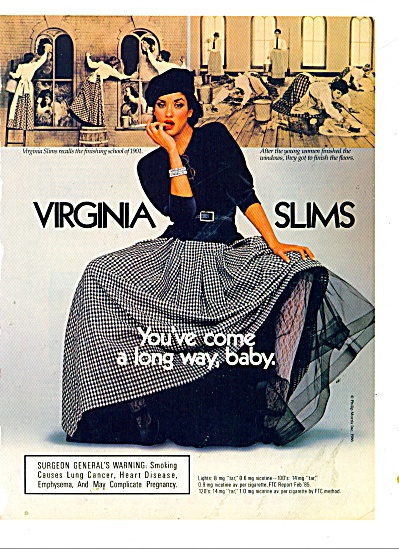 Virginia slims  ad 1986 Janice Dickenson (Image1)