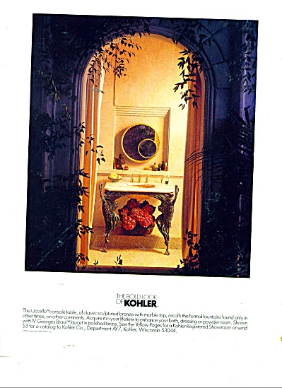 The Bold Look of Kohler ad 1987 UCCELLO (Image1)