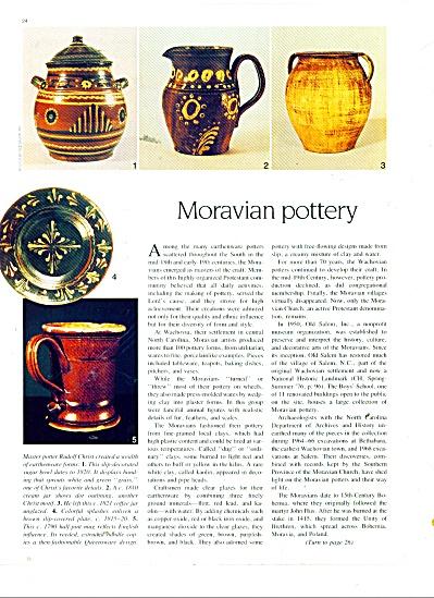 Moravian pottery story 1987 (Image1)