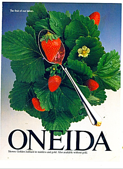 Oneida stainless ad  1987 (Image1)