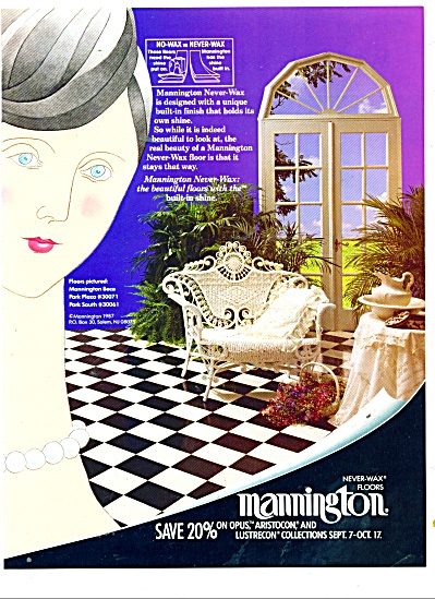 Mannington never-wax floors ad 1987 (Image1)