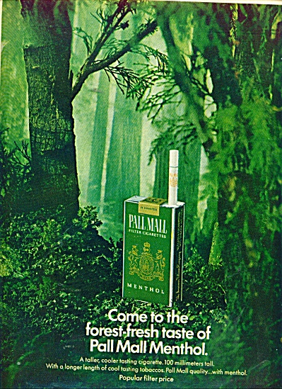 Pall Mall Menthol cigarettes ad 1967 (Image1)