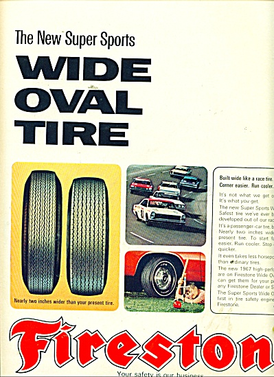 Firestone tire ads - wid oval tire - ad 1967 (Image1)