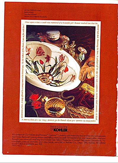 The bold look of Kohler ad 1991 (Image1)