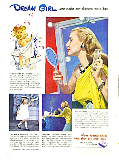 1946 Ivory Soap AD MODEL BETTY BOSWORTH (Image1)