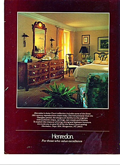 Henredon furniture ad 1984 (Image1)