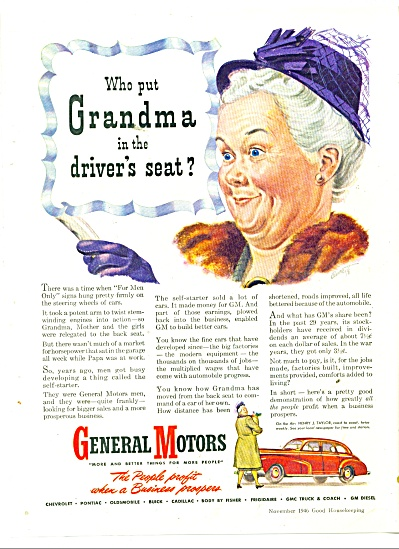 General Motors automobiles ad 1946 (Image1)
