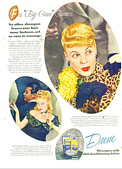 1946 DRENE AD MODEL MADELON MASON Cover Girl (Image1)