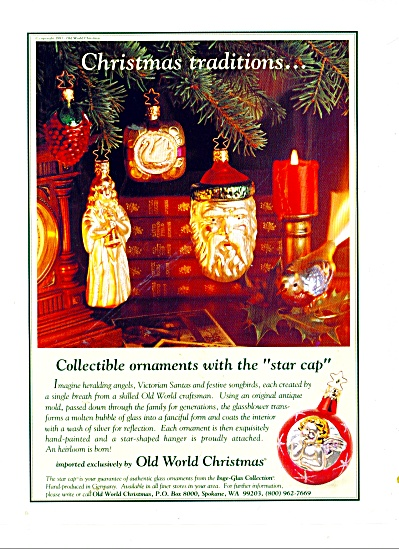 Star Cap collectible ornaments ad 1984 (Image1)