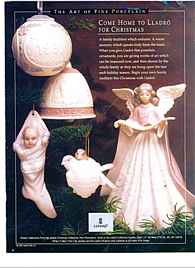 Lladro art of fine porcelain ad 1984 (Image1)