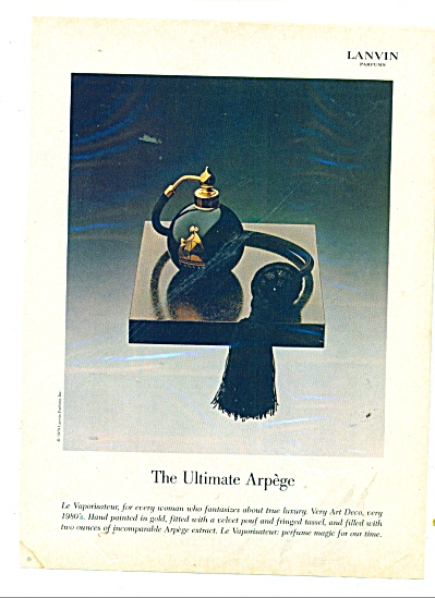 The Ultimate Arpege - Lanvin perfumes ad (Image1)