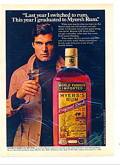 Myers's Rum - Original Dark Ad