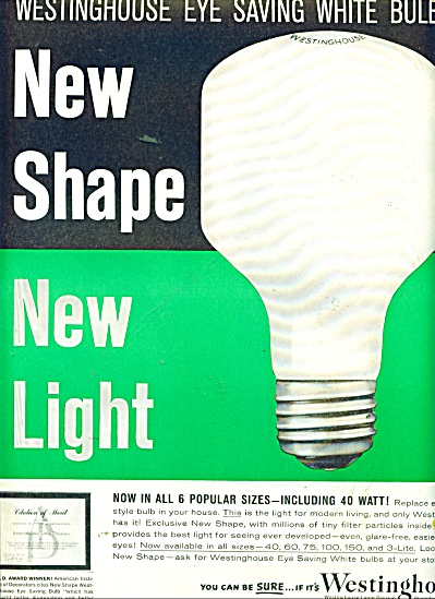 Westinghouse light bulbs ad 1960 (Image1)