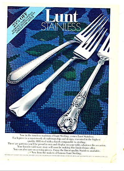 Lunt Stainless tableware ad (Image1)