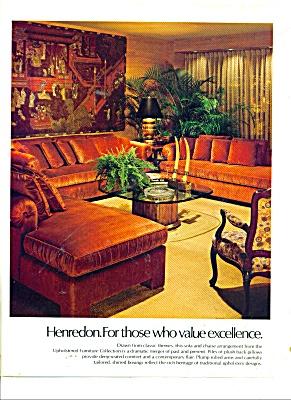 Henredon furniture ad 1979 UPHOLSTERED (Image1)
