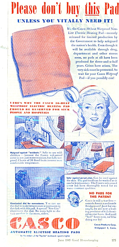 Casco automatic electric heating pads ad (Image1)