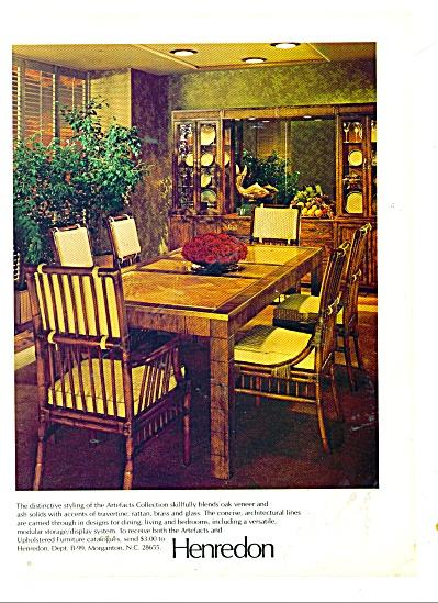 Henredon furniture ad 1979 ARTEFACTS (Image1)